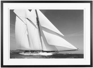 OKA Turning Tides Yacht Framed Print