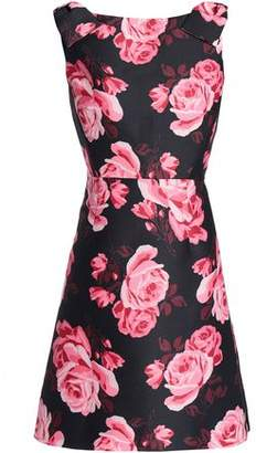 Kate Spade Rosa Bow-embellished Floral-print Ponte Mini Dress