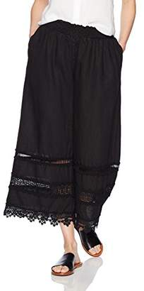 Johnny Was Women's Trim Linen Cropped Pant