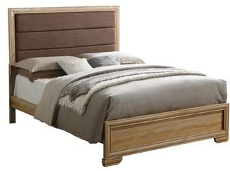 Furniture of America Bryce Contemporary Natural Toned Bed, Multiple Sizes