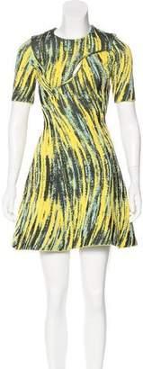 Kenzo Jacquard Flare Dress