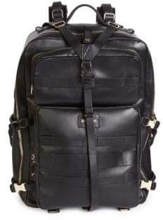 Balmain Nomade Leather Backpack