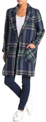 Susina Plaid Coat (Petite)