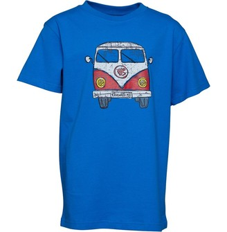 Kangaroo Poo Boys Front/Back Print Camper T-Shirt Royal/Red