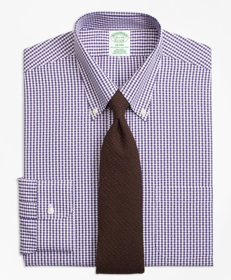 Brooks Brothers Milano Slim-Fit Dress Shirt, Non-Iron Dobby Gingham