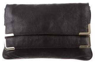 MICHAEL Michael Kors Double Flap Leather Clutch