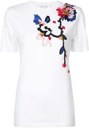 Prabal Gurung floral embroidered T-shirt
