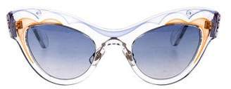 Miu Miu Cat-Eye Mirrored Sunglasses