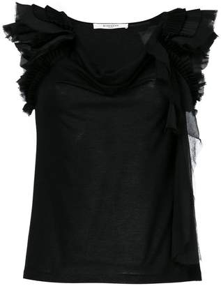 Givenchy frill-trim off-shoulder blouse