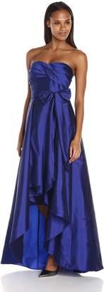 Adrianna Papell Women's Strapless Taffeta High Low Ball Gown