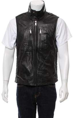 Andrew Marc Structured Leather Vest