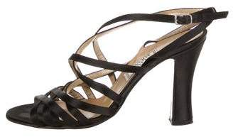 Gianni Versace Satin Crossover Sandals