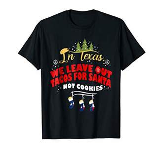 Christmas Shirt Taco Lover Shirt Texans Leave Tacos for Sant