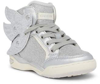 Geox Ayko Winged Metallic Hi Top Sneaker (Little Kid & Big Kid)