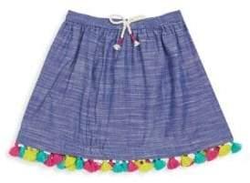 Hatley Toddler's& Little Girl's Rainfall Tassel Chambray Skirt