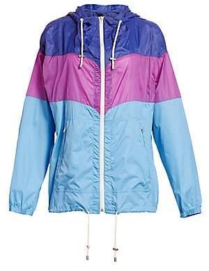 Etoile Isabel Marant Women's Kyriel Colorblock Nylon Hooded Jacket