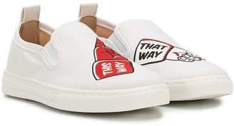 Stella McCartney printed slip-on sneakers
