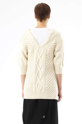3.1 Phillip Lim Split-Front Cable-Knit Sweater