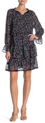 Hazel Printed Long Sleeve Dress