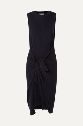 See by Chloe Wool And Cotton-blend Dress - Navy