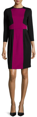 Nanette Lepore 3/4-Sleeve Colorblock Sheath Dress $285 thestylecure.com