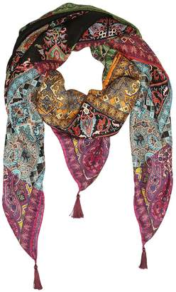 Etro Bombay Printed Silk Twill Scarf