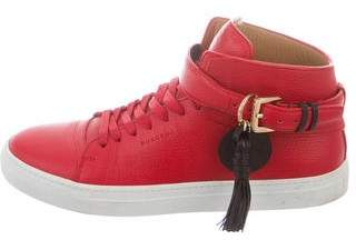 Buscemi Round-Toe High-Top Sneakers