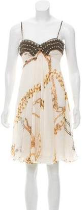 Stella McCartney Chain-Link Print Beaded Dress