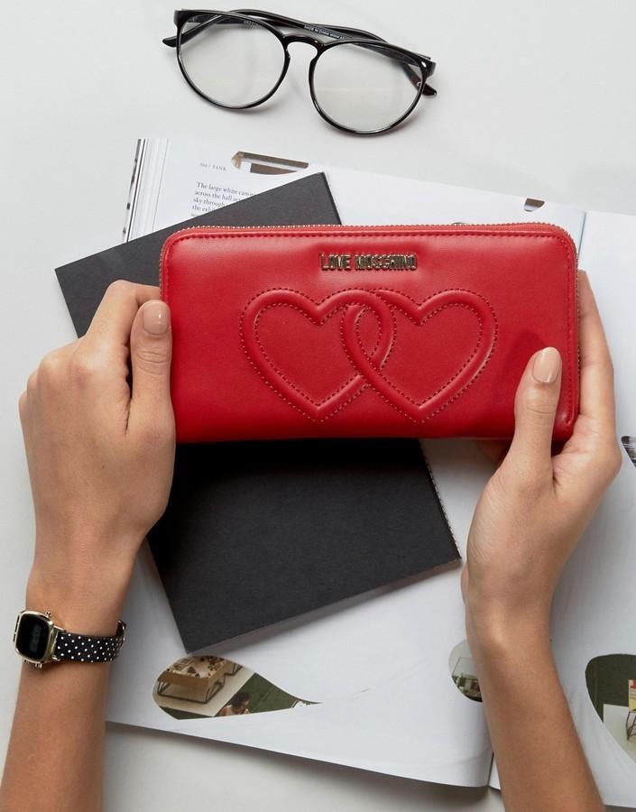 Love MoschinoLove Moschino Double Heart Purse