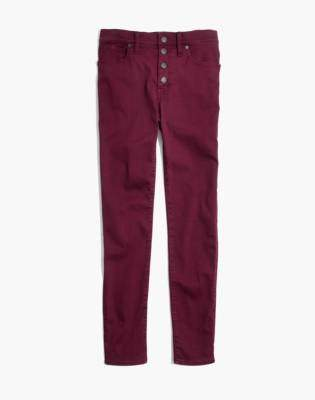 """Madewell Tall 9"""" High-Rise Skinny Jeans: Garment-Dyed Button-Front Edition"""