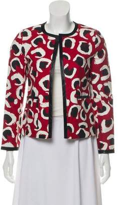 Gucci Leather-Trimmed Printed Jacket