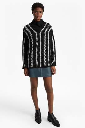 Blend of America Fcus Ella Embroidered Wool Jumper
