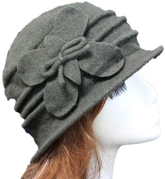 2760bba682a at Amazon Canada · Cloche Telamee Womens Blue Gatsby 1920s Winter Wool  Beanie Bucket Hat for Girls