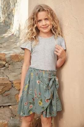 Next Girls Floral Tie Skirt Dress (3-16yrs)
