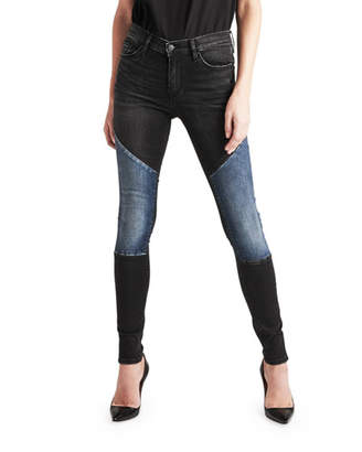 Hudson Nico Mid-Rise Super Skinny Paneled Jeans