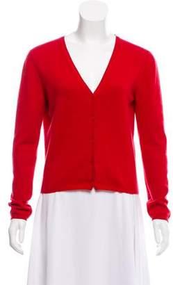 Prada Cashmere Button Front Cardigan