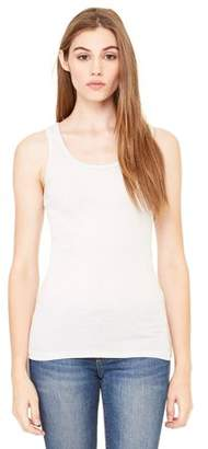 Clementine Apparel Women's Sheer Fitted Rib Tank Top