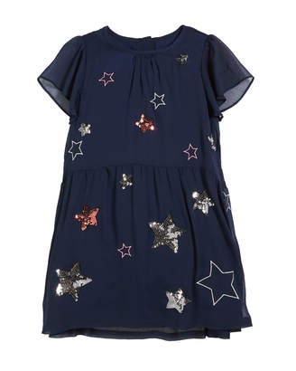 Joules Emma Sequin & Embroidered Star Dress, Size 3-12