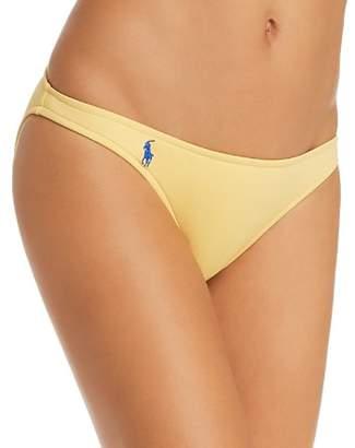 Ralph Lauren Solid Taylor Hipster Bikini Bottom
