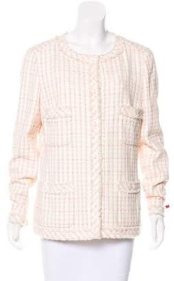 Chanel Raw-Edge Tweed Jacket