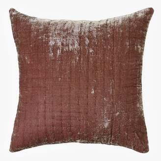 abcDNA Luminous Quilted Velvet Euro Pillow Mink