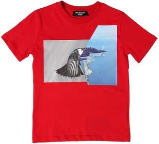 Neil Barrett HYBRID PRINT N.34 コットンジャージーTシャツ