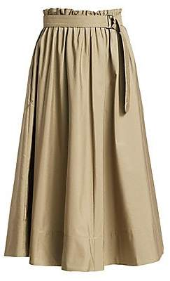 Akris Punto Women's Belted Paperbag Midi Skirt