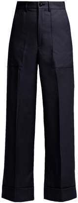 Toga Scarf-belt wool trousers