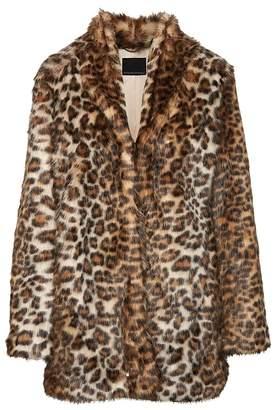 Banana Republic Leopard Print Faux Fur Coat