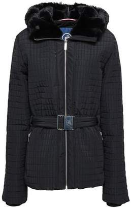 Fusalp Faux Fur-trimmed Quilted Hooded Shell Jacket
