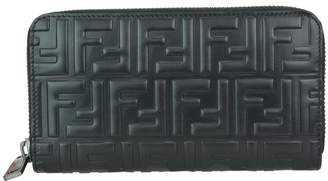 Fendi Ff Zip Around Wallet