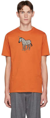 Paul Smith SSENSE Exclusive Orange Uni Zebra T-Shirt