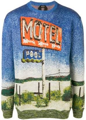 No.21 printed sweater