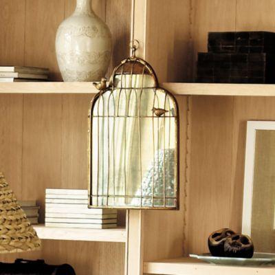 Antiqued Birdcage Mirror